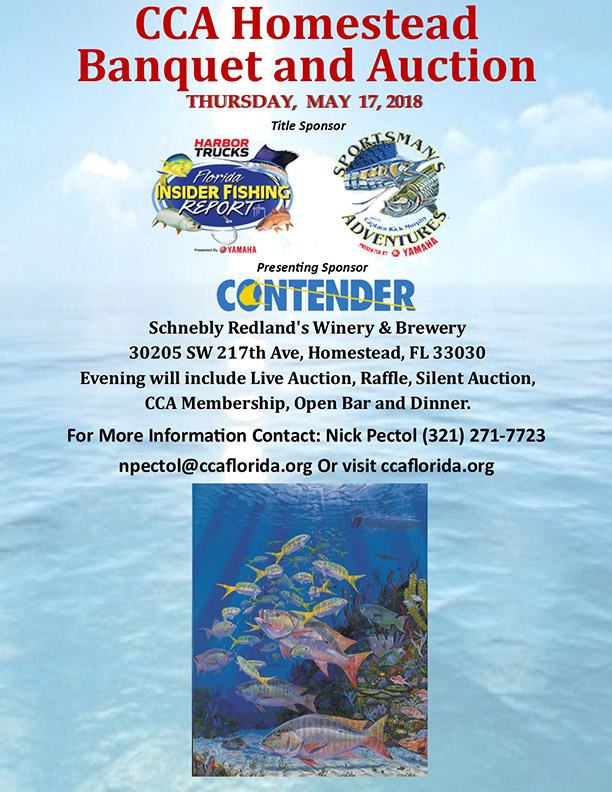 Cca homestead banquet florida insider fishing report for Florida insider fishing report